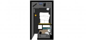 Décoration et aménagement chambres d'hôtel.